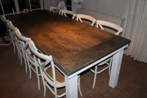 Steigerhouten tafels Antraciet wash