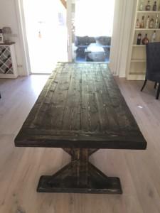 Langwerpige kloostertafel houten Gehazie